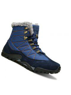 Hombres Botas De Montaña De Invierno Escalada De Montaña Zapatos Deportivos Al Aire Libre Trekking Sneakers 39-44 - Azul 38