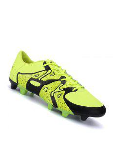 Football Men Running Soccer Lace Up Sport Outdoor Sneakers Athletic Shoes 39-44 - Yellow 40