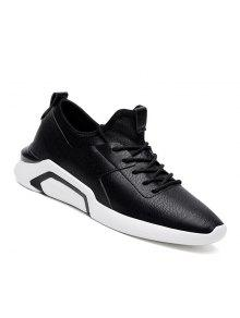 الرجال الجري الدانتيل متابعة عارضة الرياضة في الهواء الطلق الركض المشي الأحذية الرياضية 39-44 - أسود 43
