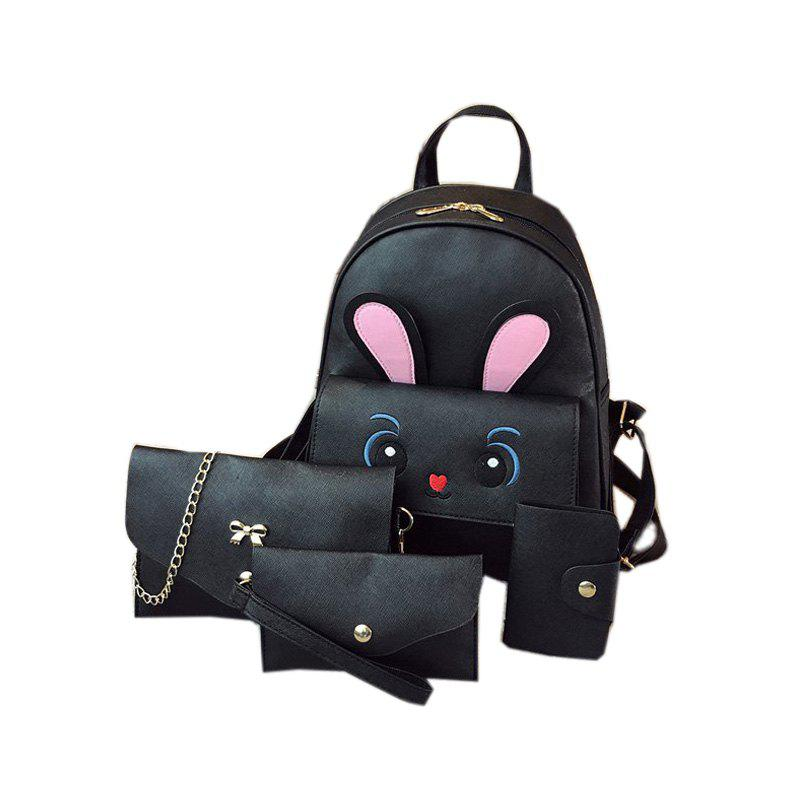4pcs Fashion Shoulder Bag Casual All Match Travel Backpack