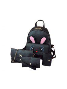 4 قطع أزياء الكتف حقيبة عارضة كل مباراة السفر - أسود