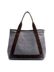 قماش حقائب أزياء البرية السيدات الكتف حقيبة - رمادي