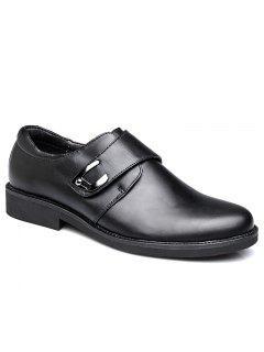 Zapatos De Cuero Para Hombre Zapatos De Boda Negro Con Puntas Afiladas Pig Inner Rubber Base - Negro 38