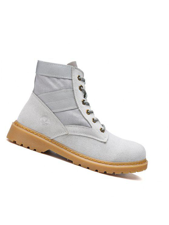 عالية الجودة الأحذية أزياء زوجين المشي عالية أعلى الأحذية 35-44 - رمادي 42