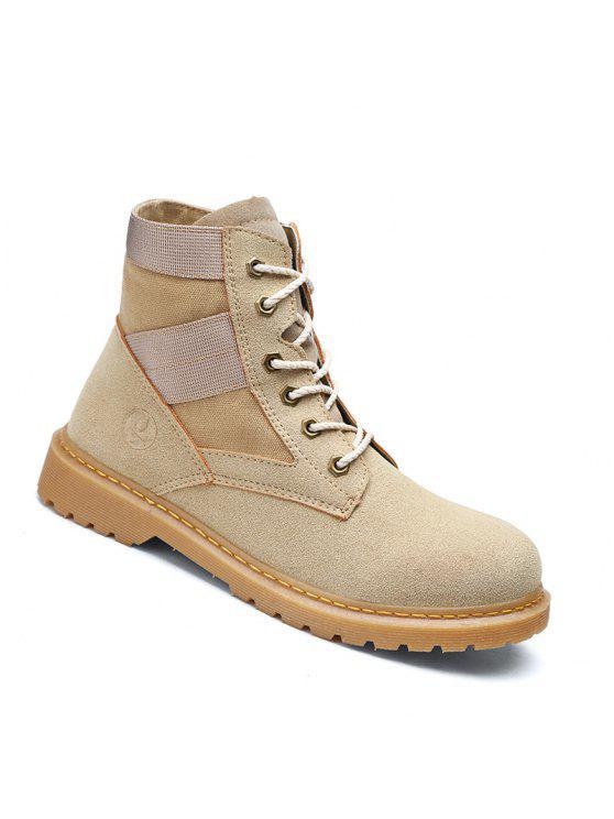 عالية الجودة الأحذية أزياء زوجين المشي عالية أعلى الأحذية 35-44 - كاكي 42