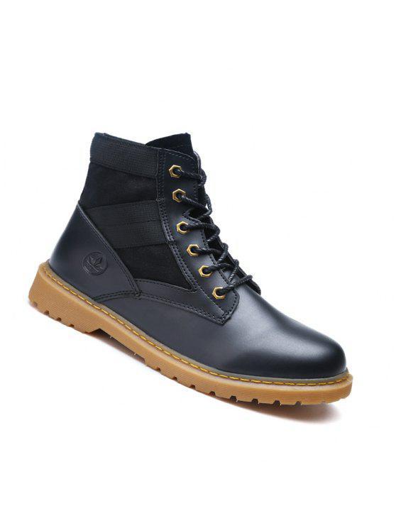 عالية الجودة الأحذية أزياء زوجين المشي عالية أعلى الأحذية 35-44 - أسود 42