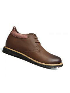 Zapatos De Cuero Que Caminan De La Oficina De Los Hombres Al Aire Libre De La Oficina De Los Hombres 38-43 - Marrón 40