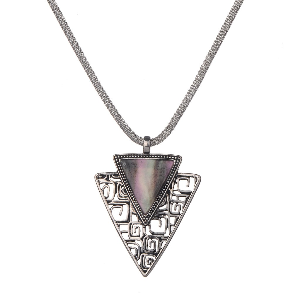 Vintage Simple Style Triangle Pendant Necklace