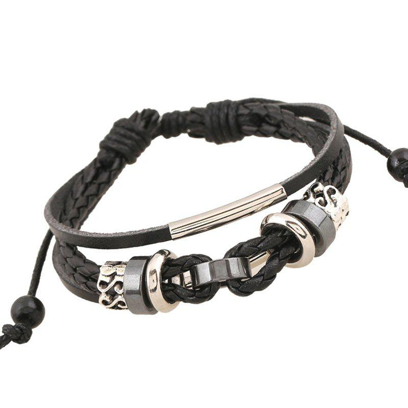Vintage Weave Cowhide Bracelet Leather Hand Chain Accessories Jewelry