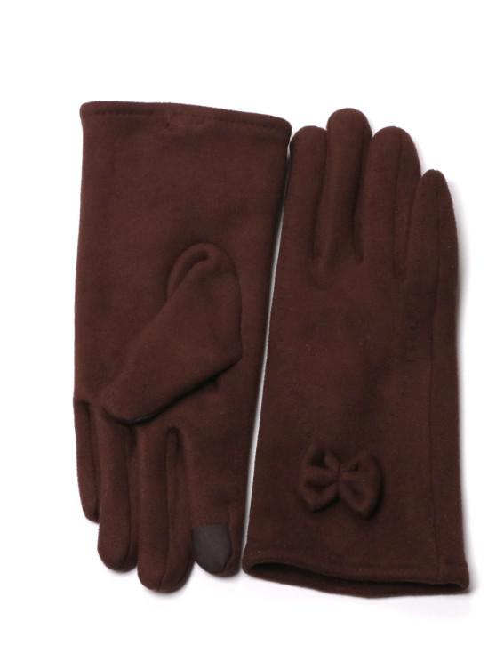 unique Women's Touch Screen Gloves Warm Winter Feast Gloves Driving Riding Outdoor and Indoor Fashion Gloves - DARK RED