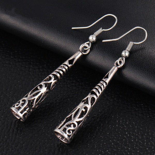 New Chic Long Hollow Vintage Silver Tassel Drop Earring Bohemia Fashion Women Pendant Dangle Earrings