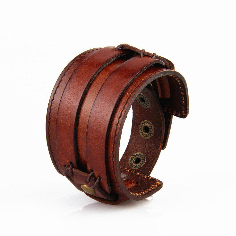 Fashion Jewelry Originality Men Hand Wear Rope Leather Bracelet