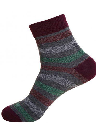 Pure Cotton Casual Medium Heat Medium And Thick Autumn Gentlemen Socks - Deep Gray