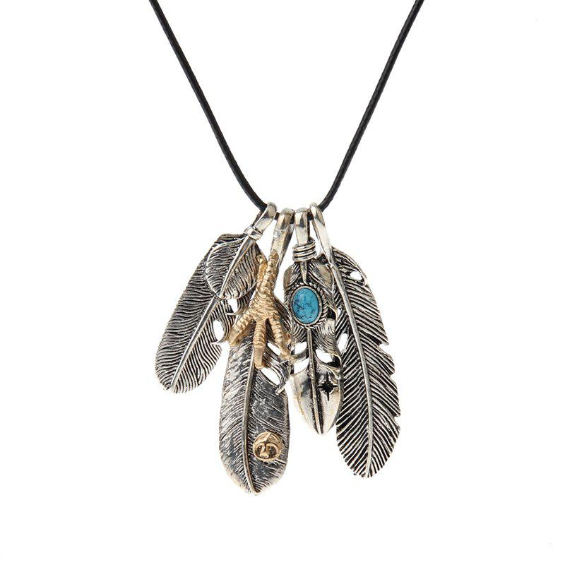 Fashion Jewelry Accessories Pendant Necklace Personality Eagle Feathers