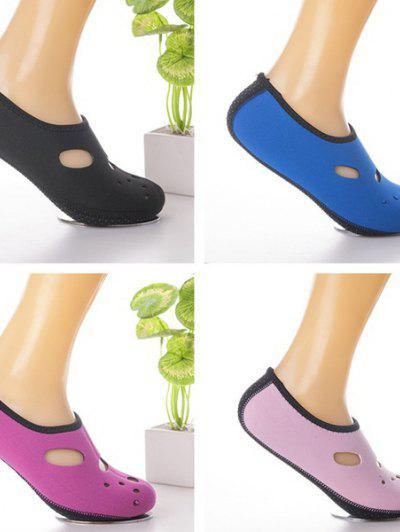 2017 New Fashion Water Shoes Aqua Socks Exercise Pool Beach Dance Swimming Diving Slip Socks - Pink 36