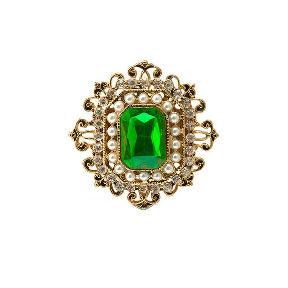Vintage Brooches Pin with Large CZ Stone Pendent waterdrop Rhinestone Unique Red jewelry Green jewelry 4 colors