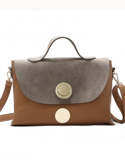 2018 New Handbag Fashion Handbag Lock All-Match Color Diagonal Shoulder Bag - Khaki