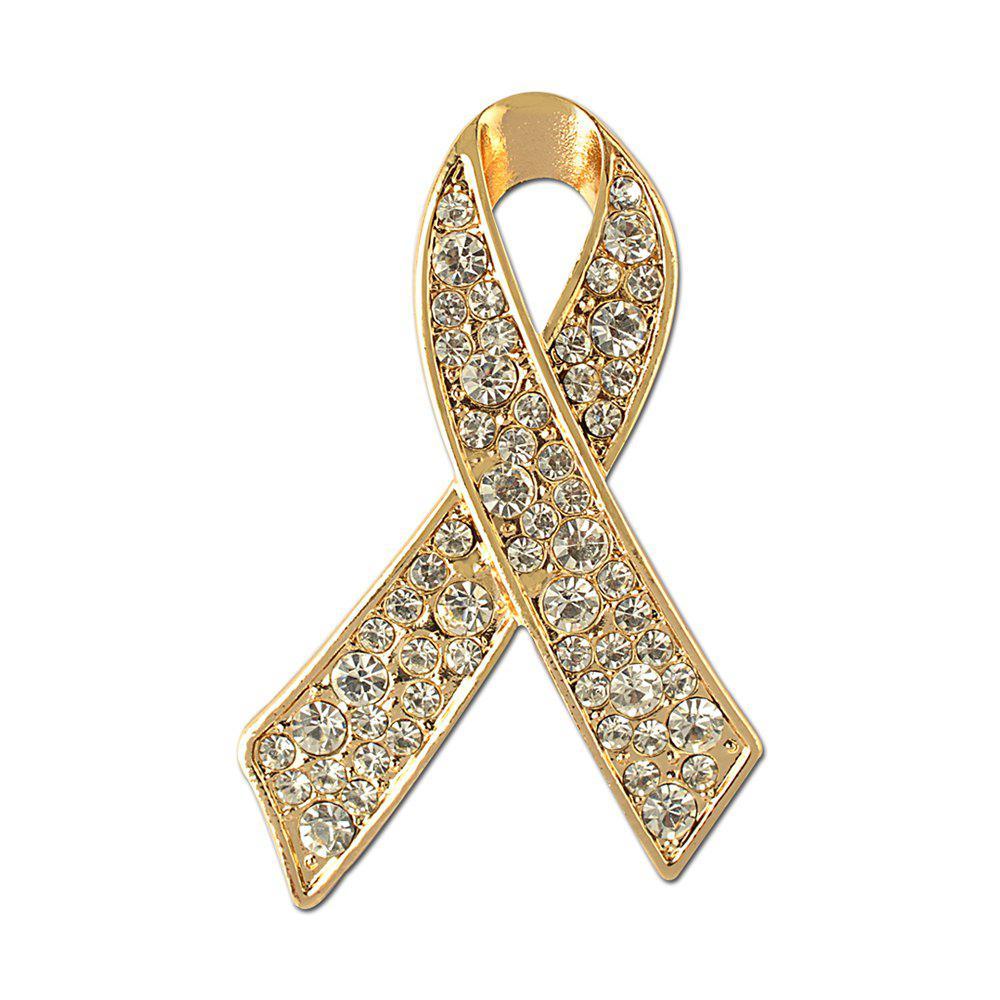 Ribbon Crystal Brooch Rhinestone for Women Dress Scarf Brooch Pins Jewelry Accessories
