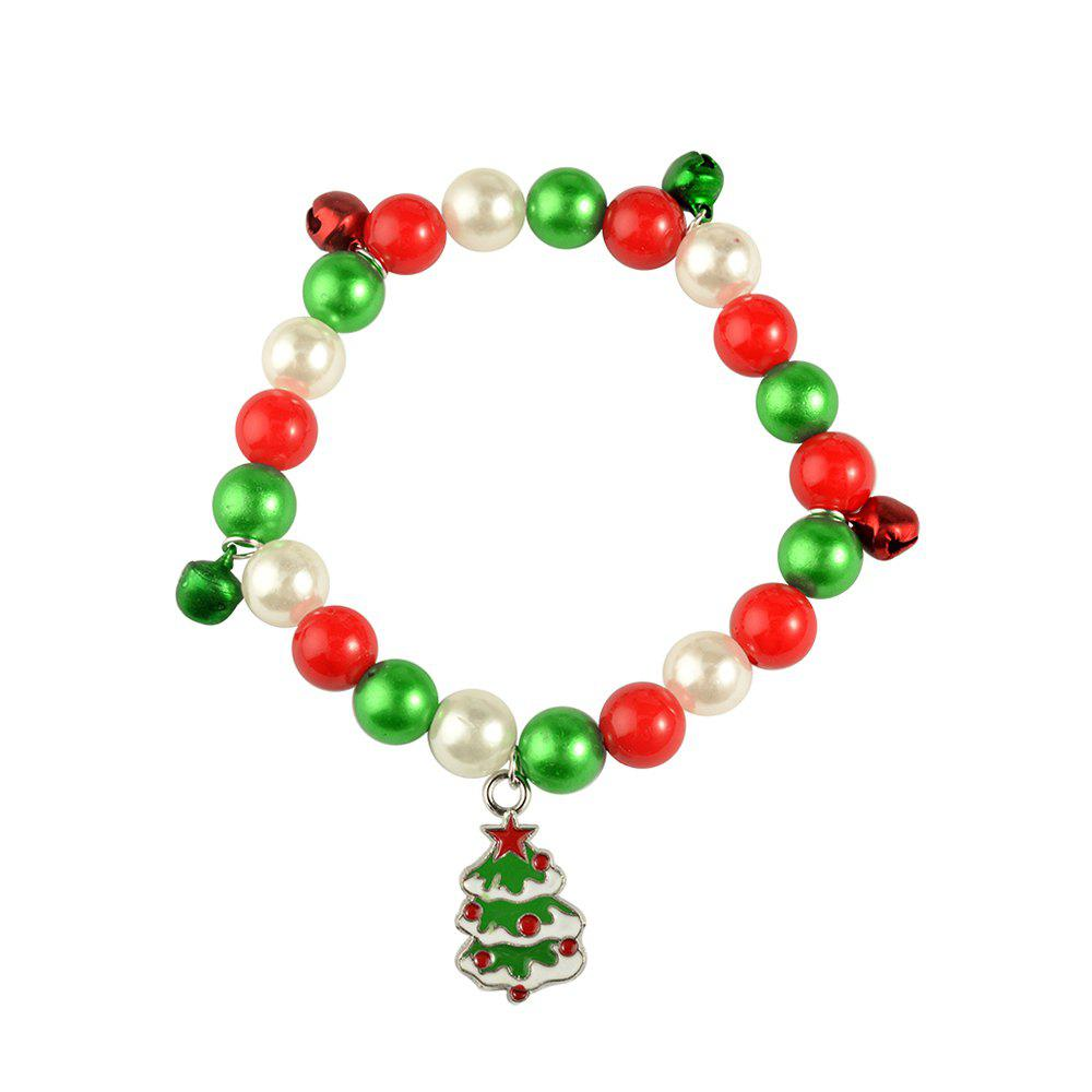 Christmas gift bracelet jewelry Santa Claus Elk Pendant Alloy Beads Bangles Jewelry for women Girls