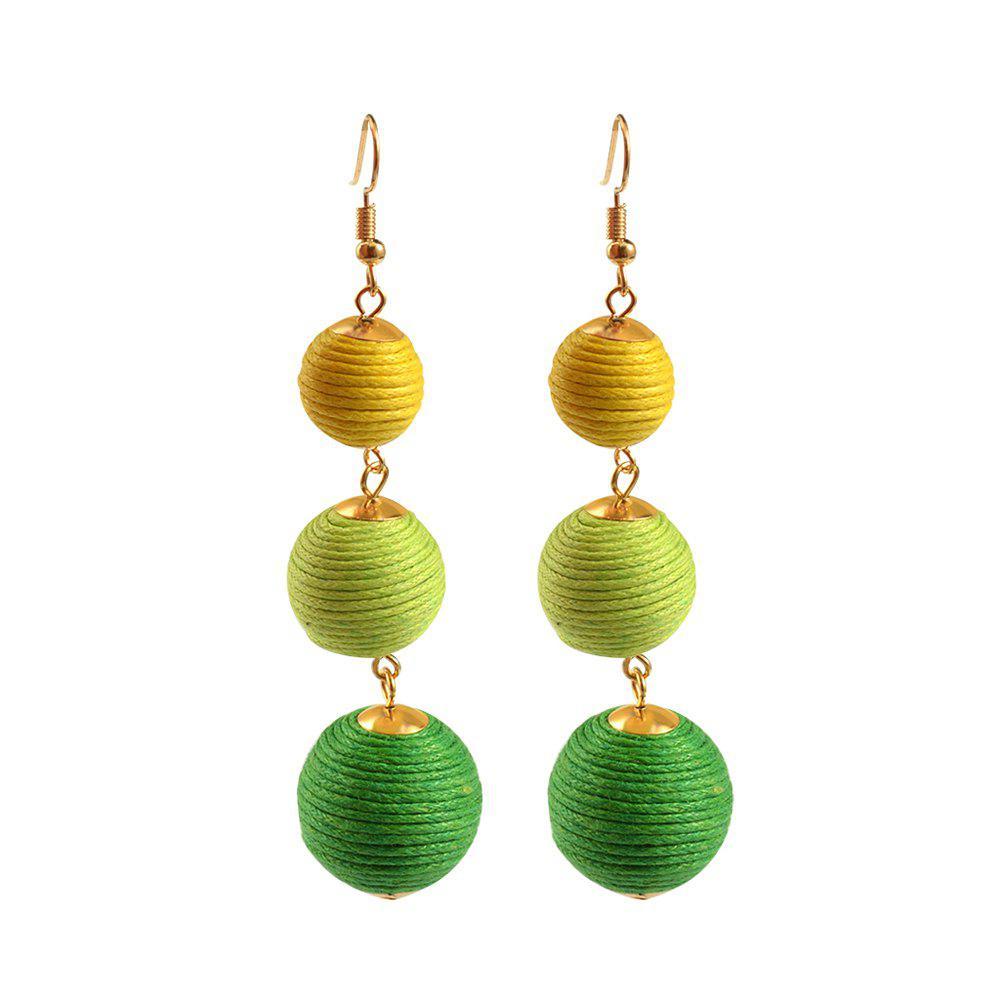 Statement Earrings Ball Pendant Pom Pom Long Drop Earrings for Women Fashion Party Earring Jewelry