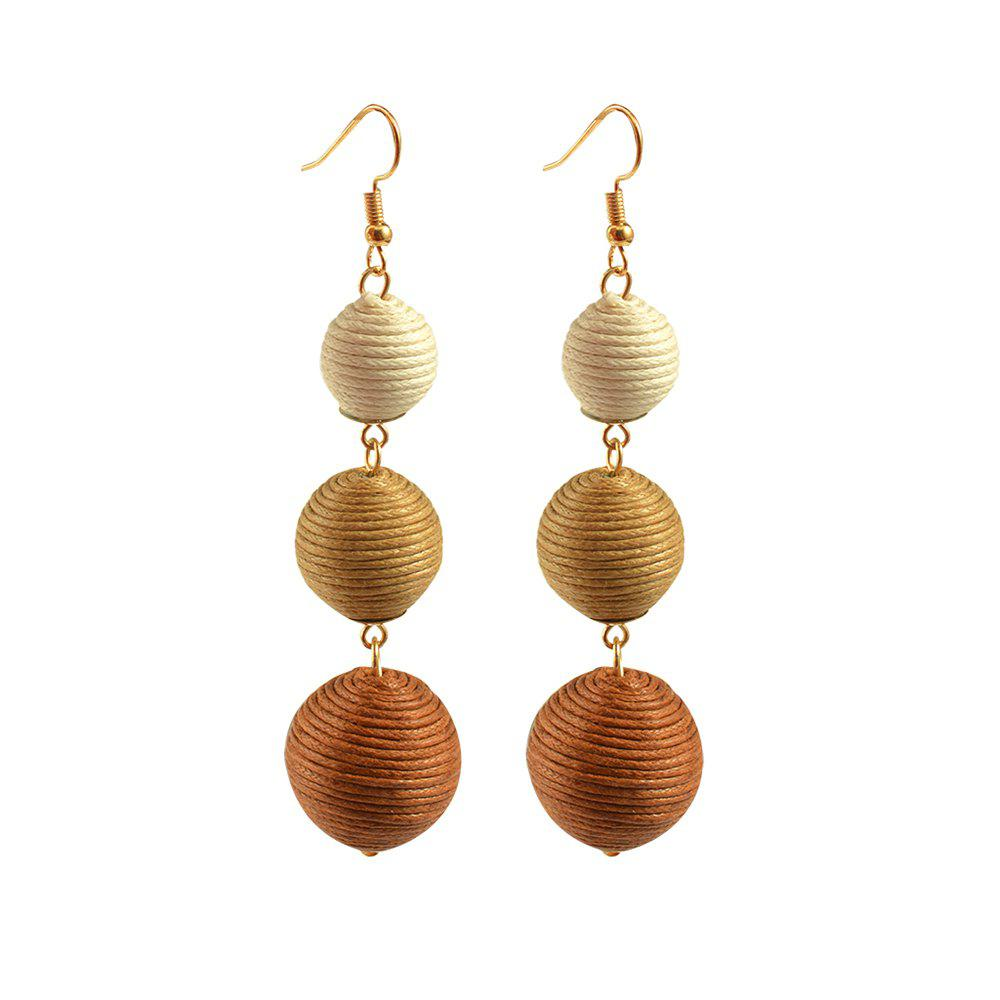 Statement Earrings Ball Pendant Pom Pom Long Drop Earrings for Women Fashion Party Earring Jewelry