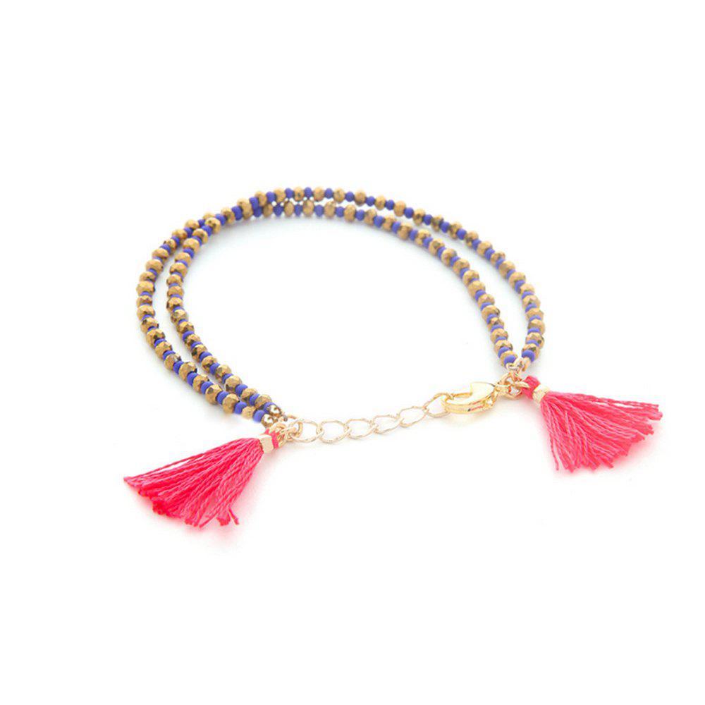 Women's Bracelet Ethnic Two Layers Tassel Pendant Jewelry Accessory