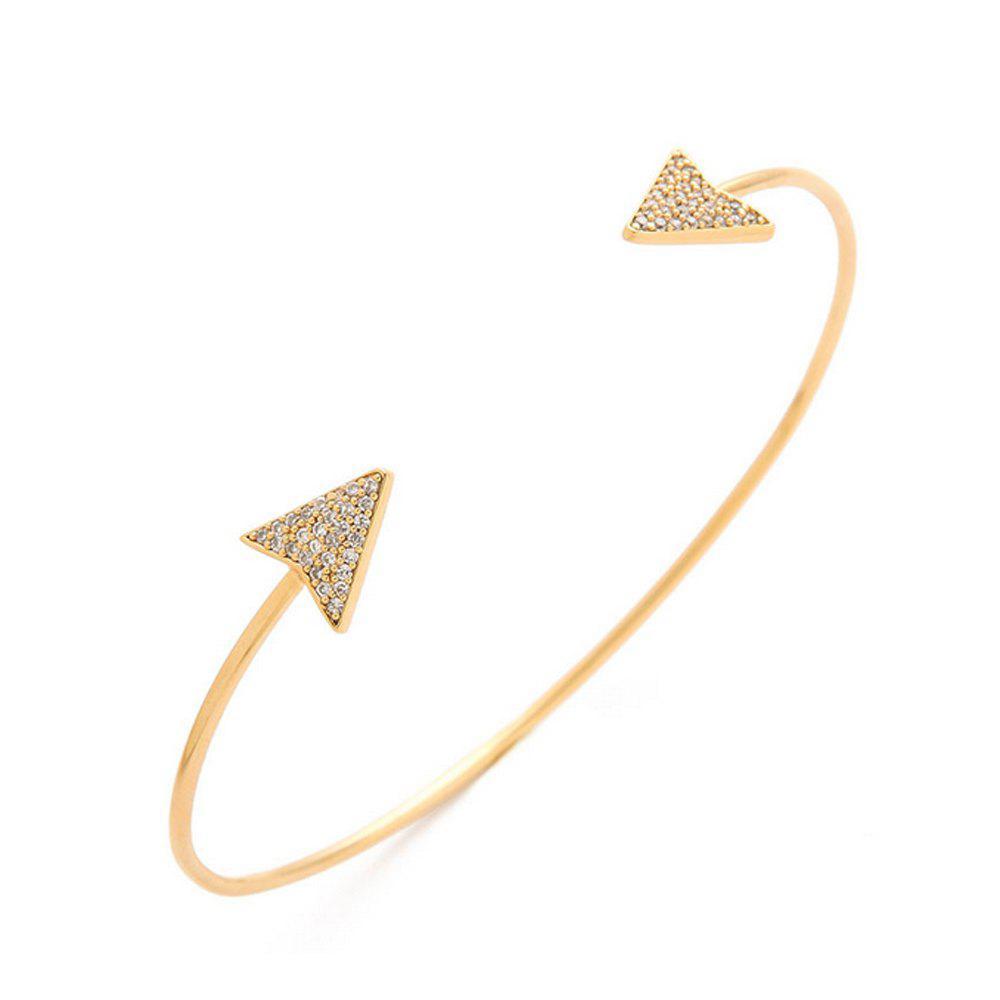 Women's Bracelet Geometric Triangle Slim Adjustable Jewelry Accessory