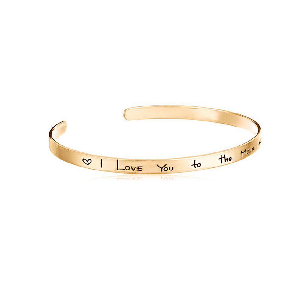 Women's Bracelet Romantic English Lettering Chic Open Jewelry Accessory