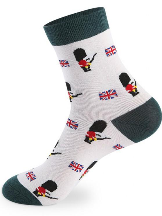 shop British Cartoon Pattern Knitted Socks - 5 Pairs - COLORMIX ONE SIZE