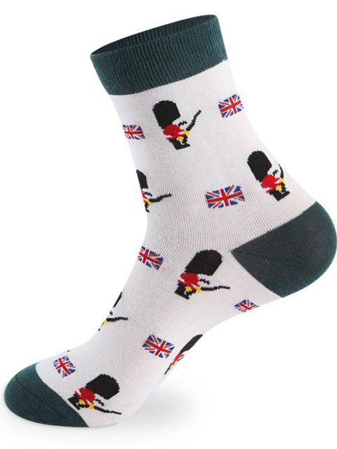 shop British Cartoon Pattern Knitted Socks - 5 Pairs - COLORMIX ONE SIZE Mobile