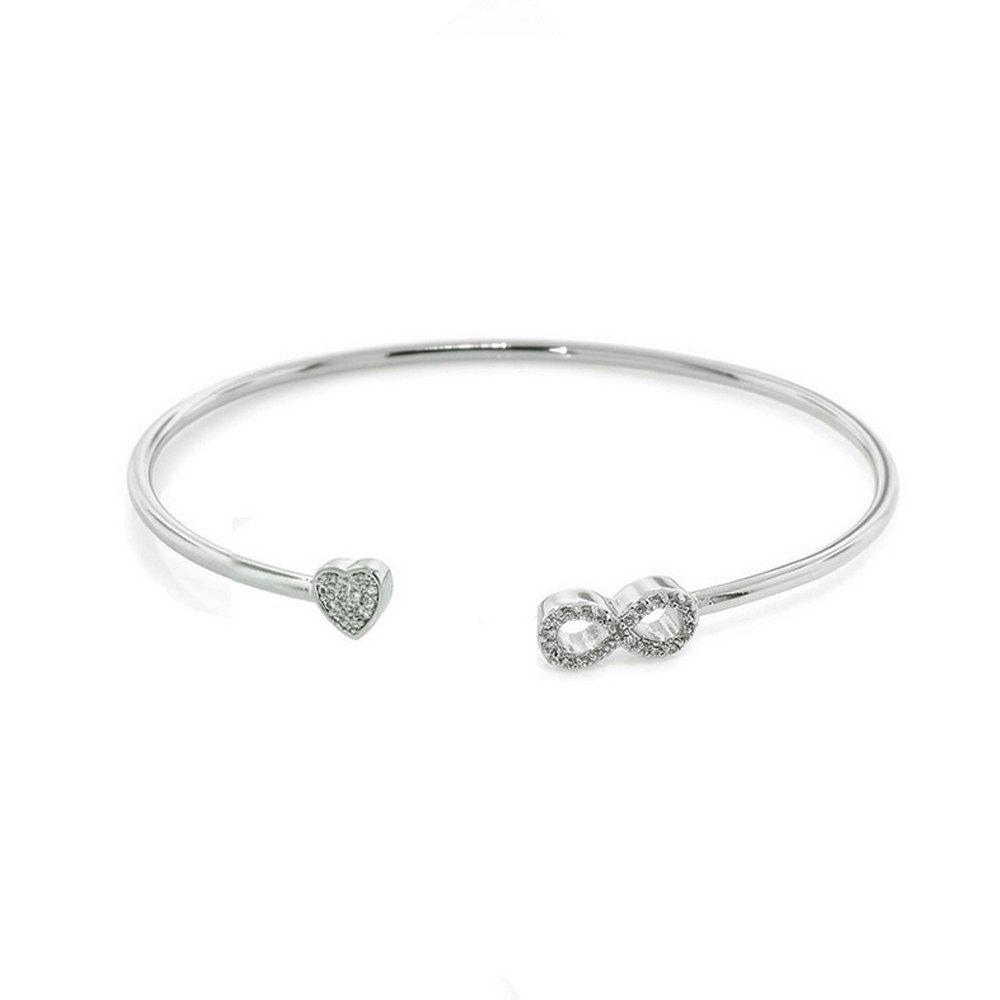 Women's Bracelet Slim 8 Design Brief Design Open Jewelry Accessory