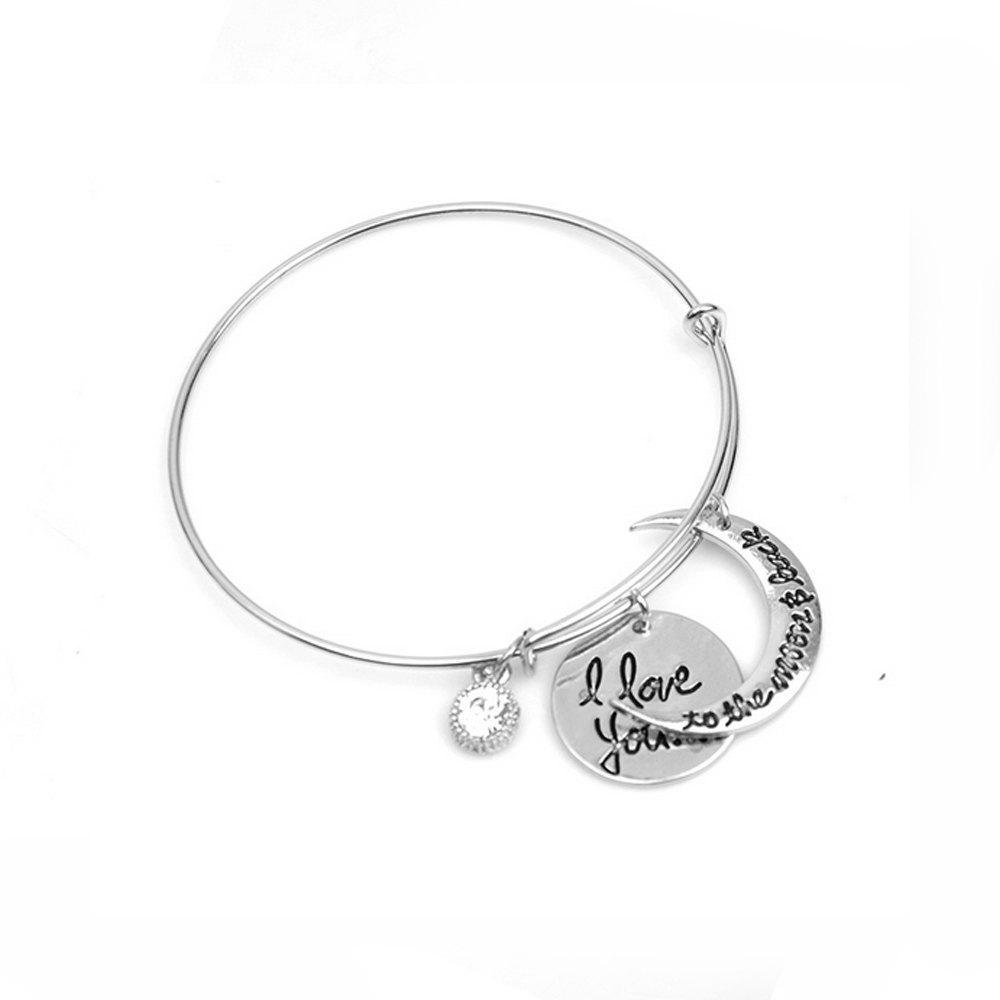 Women's Bracelet Slim Crescent Pattern Slim Charming Jewelry Accessory