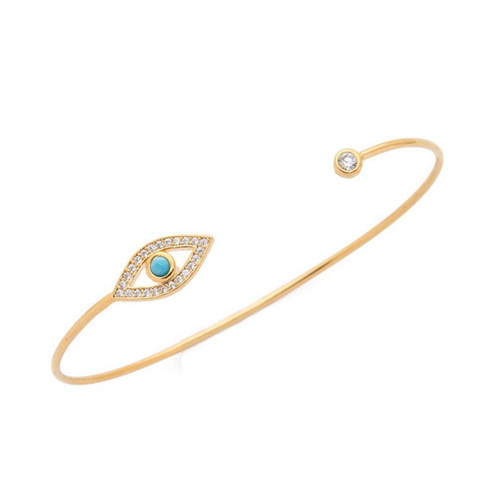 Women's Bracelet Unique Eye Gemstone Themed Slim Jewelry Accessory