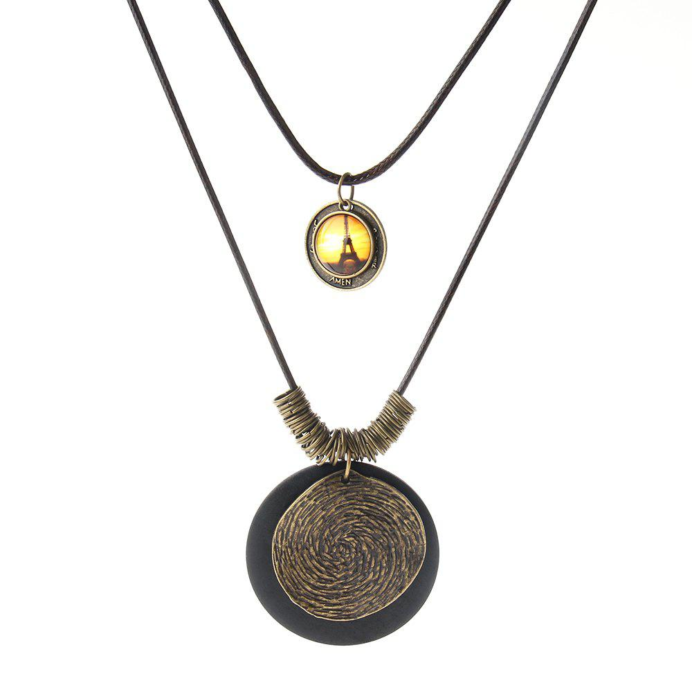 Hot Fashion Ornaments Wood and Alloy Pendant Necklaces
