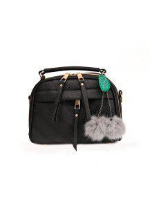 الأزياء الشعر لمبة الزخرفية سيارة خياطة حزمة حقيبة - أسود
