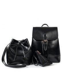 ثلاثة قطعة أزياء حزام الكتف حزام الإناث حزمة - أسود