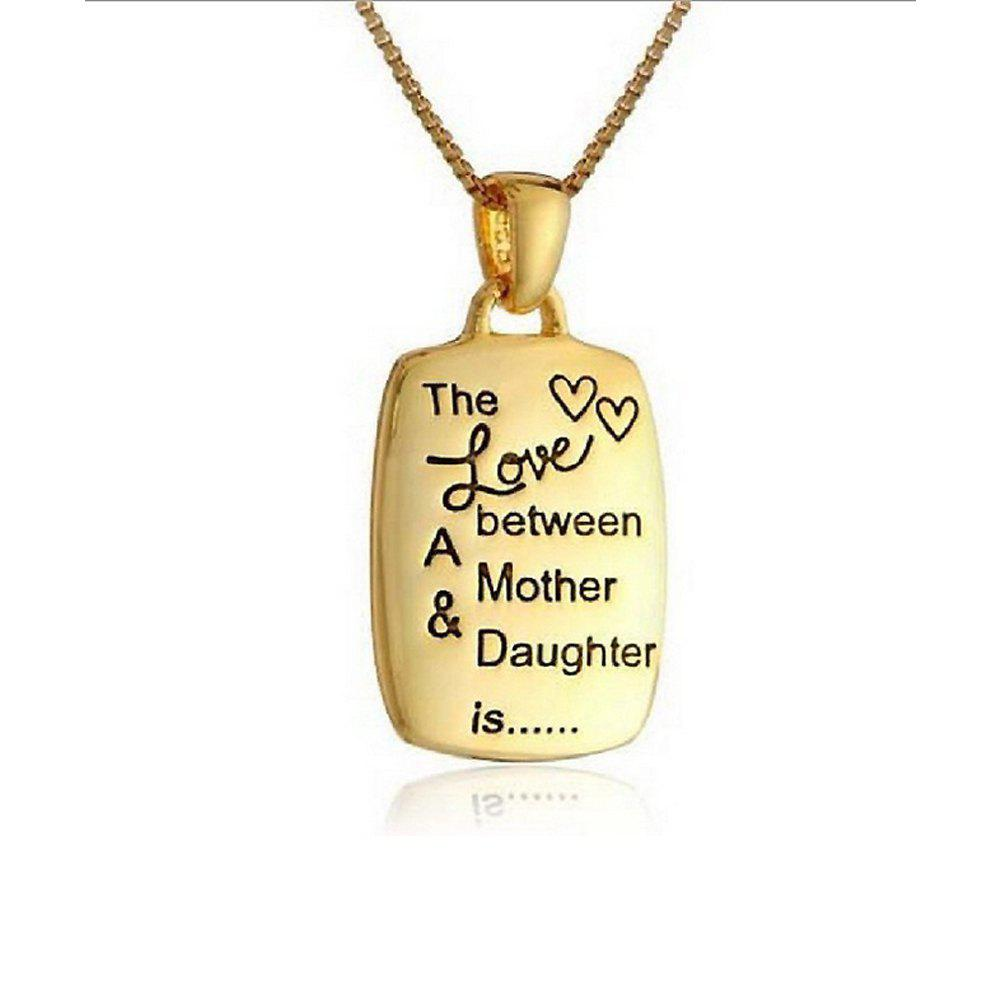 Women's Necklace Meaningful English Lettering  Jewelry Accessory