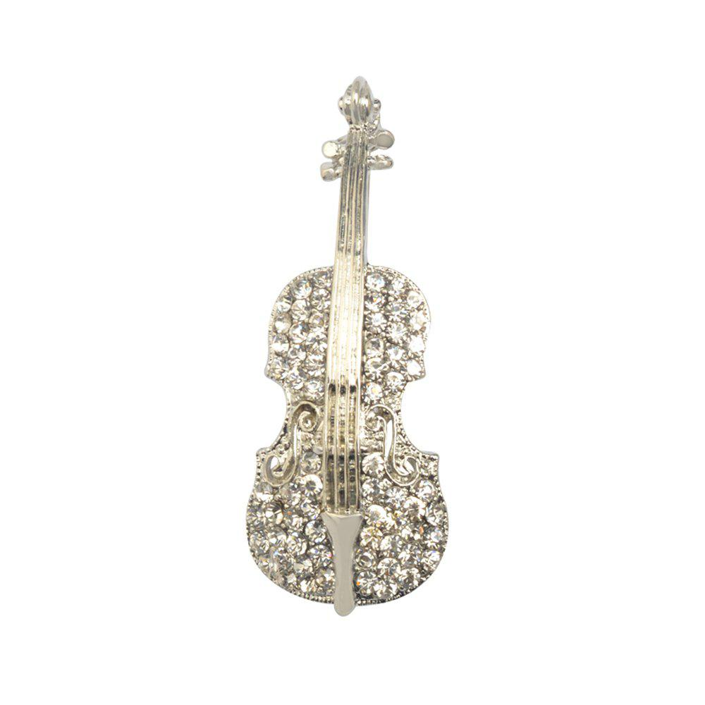 Fashion Women pins Personality brooches Crystal Rhinestones Violin Brooches Pin Jewelry Accessories brooch