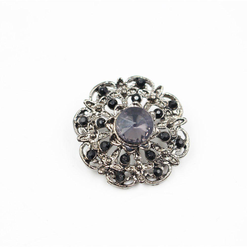 Christmas Jewelry Beautiful Colorful Crystal Rhinestones Flower Brooches Pin Jewelry for Women Girl Gift