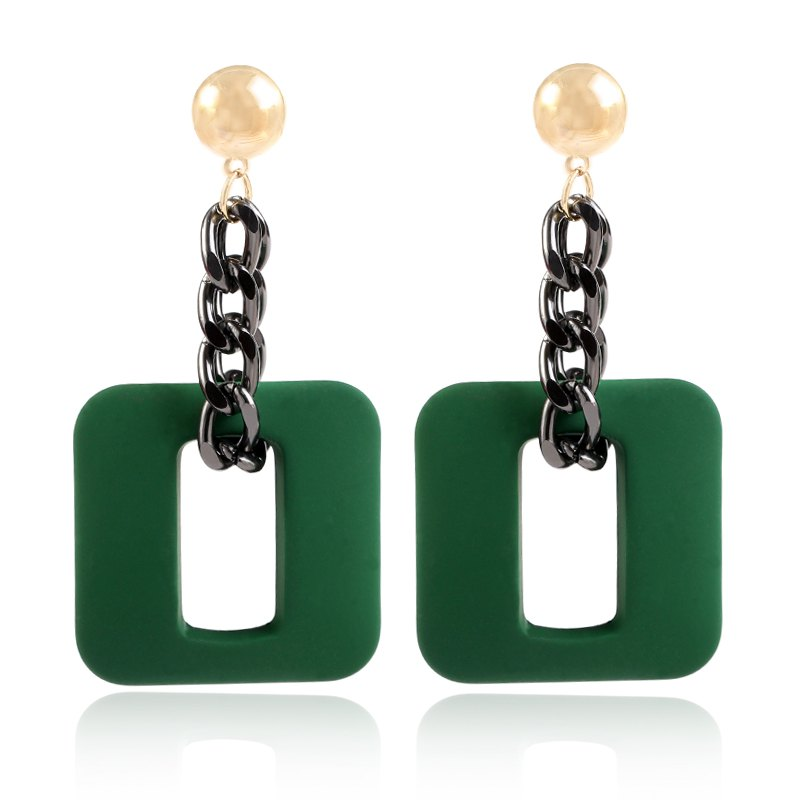 European and American hot style jewelry new fashionable quality chain ear jewelry wholesale geometric ear nail earrings