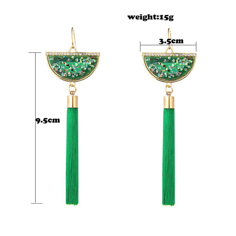 Fashion Brand Jewelry Tassels Earrings Hand Made Crystal Shivering Accessories Ethnic Drop Earrings For Women