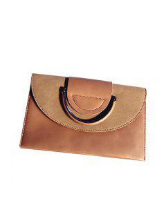 Single Shoulder Slanting Shoulder Bag Of Personal Fashion Style Of The Hand Bag - Brown