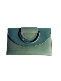 Single Shoulder Slanting Shoulder Bag Of Personal Fashion Style Of The Hand Bag - Green