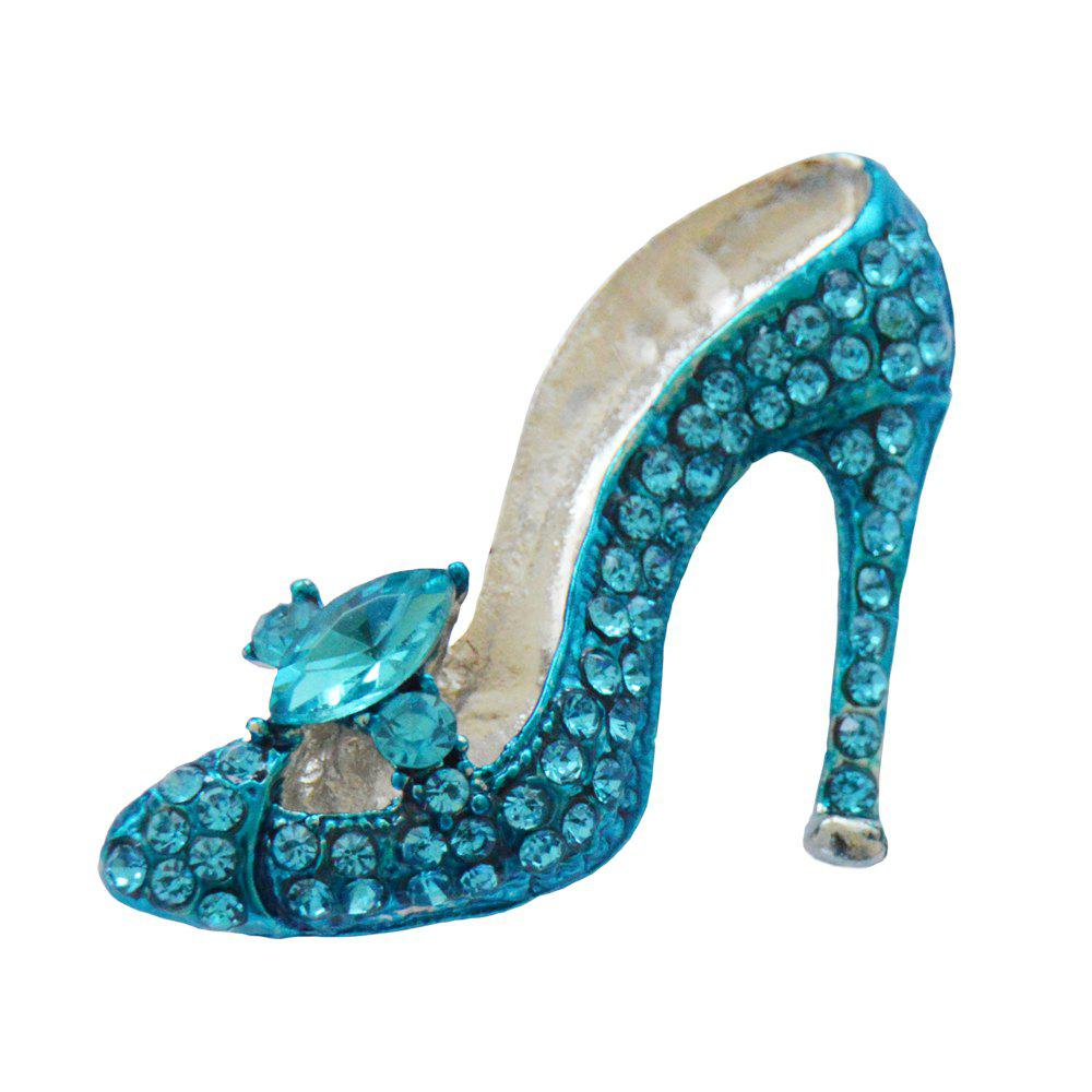 Crystal High-heeled Shoes Brooches for Women Wedding and Party Jewelry Accessories Ladies Bow-knot Brooch Pins