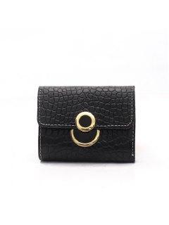 Portefeuille Simple Style Vintage Pour Femme - Noir