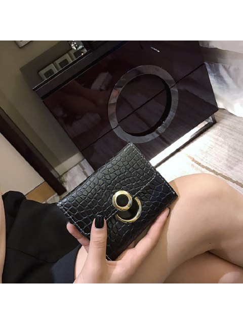 outfit Vintage Style Simple Wallet for Women - BLACK  Mobile