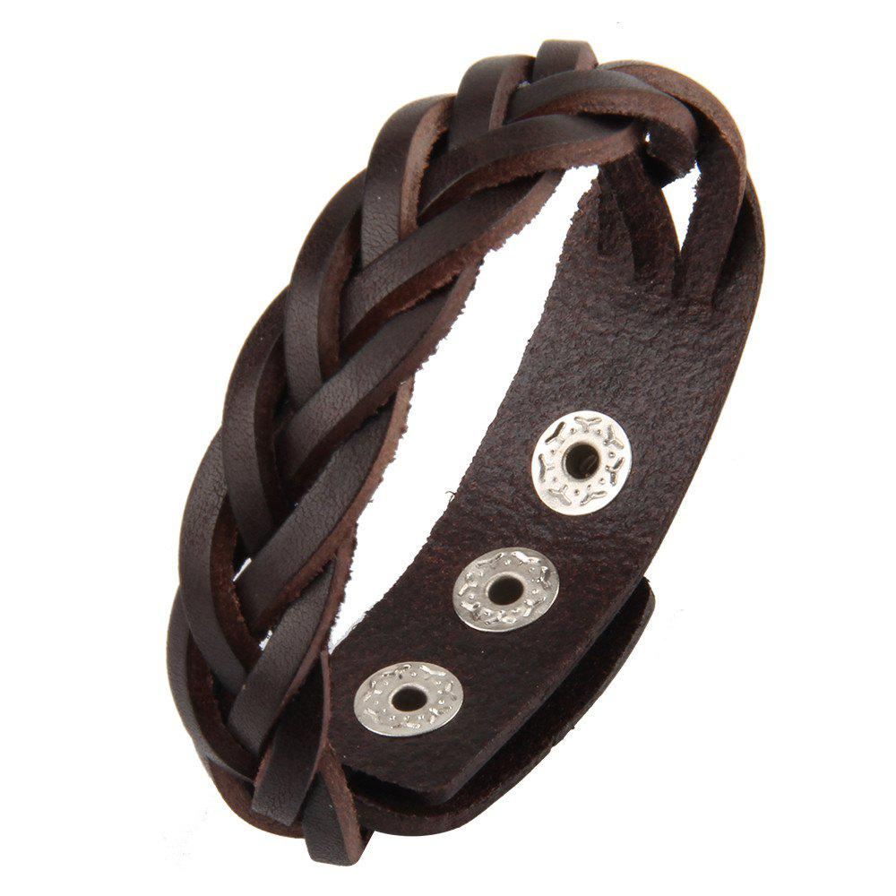 Fashion Cowhide Knitted Hand Chain Cowhide Jewelry Lovers