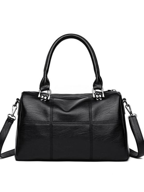 Mode Handtasche Handtasche 2017 Winter Neue einfache Große Umhängetasche Kreuz - Schwarz