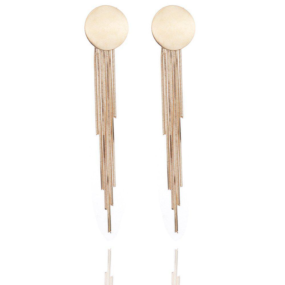 Women Girls Ball Tassel Pendant Long Drop Earrings Metal Fashion Jewelry Gifts
