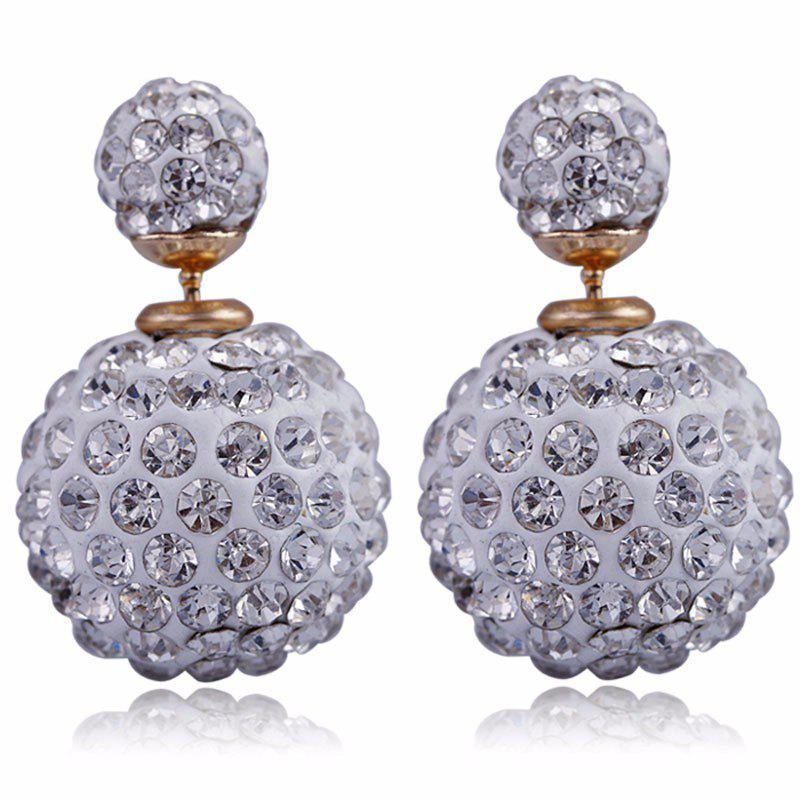 Double Sided Earrings Ball Studded Multicolour Stud Earrings